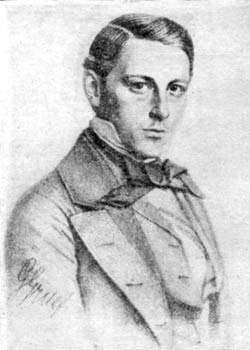 Отто Гильберт, отец Давида Гильберта, в 1850 г., студент университета