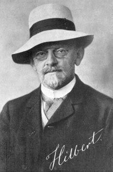 Давид Гильберт, 1912г.— один из серии портретов профессоров, продававшихся в Гёттингене как почтовые открытки